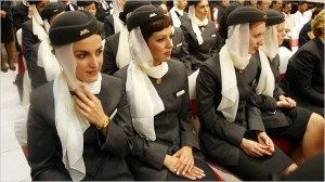 Etihad flight attendants (source: nytimes.com)