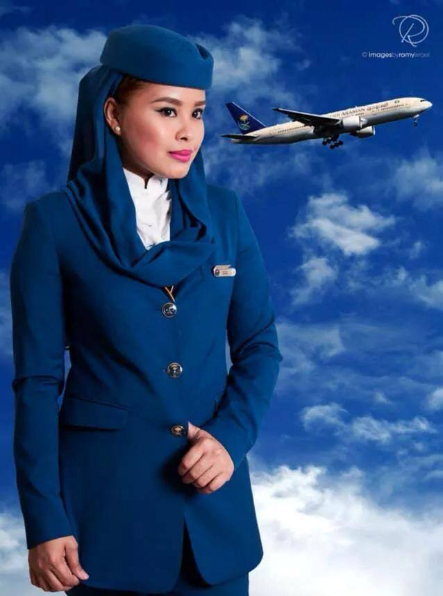SAUDIA cabin crew (dok. A Fly Guy's Crew Lounge)