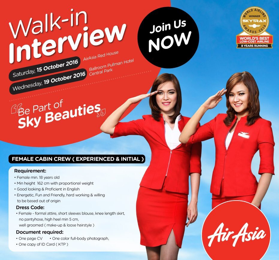 AirAsia Indonesian Cabin Crew Recruitment